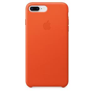 iPhone 8 Plus / 7 Plus Leather Case - Bright Orange