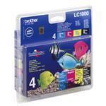 Ink Cartridge - Lc1000 - High Capacity Multipack - Colour 400 Pages Black 500 Pages - Black / Cyan / Magenta / Yellow